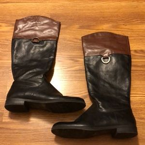 Shoes - brown and black riding boots